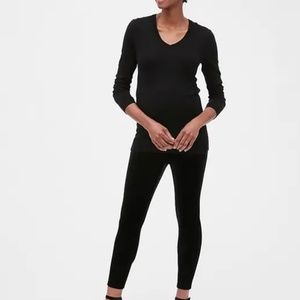 Maternity Full Panel Velvet Leggings